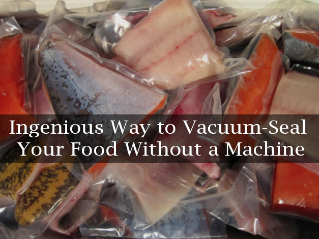 Ingenious Way to Vacuum-Seal Your Food Without a Machine